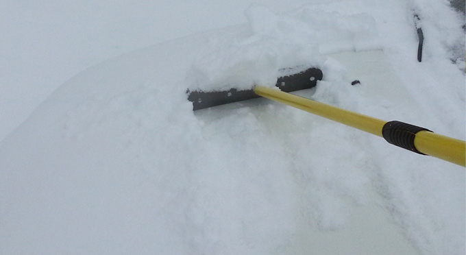 long reach snow brush