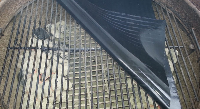 Looking under grill mat